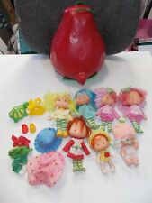 Vintage Strawberry Shortcake Doll Lot 7 Strawberry Case random extras