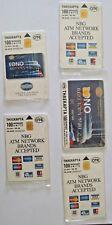 Vintage, 5 greek  Phone cards ''National bank of Greece'', year 1998,low tirage.