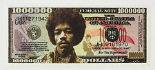 Jimi Hendrix USA fantasy paper money currency One Million Dollars Legends Series