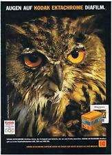 Kodak Ektachrome Diafilm. Original-Werbeanzeige 1988. Reklame Werbung.