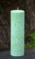 70hr GREEN TEA & LEMONGRASS Scented TALL PILLAR CANDLE Home & Office Fragrances