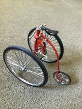 Tricycle Bike Highwheel Safety Replica Bicycle Alloy Diecast Models Toy 1:10