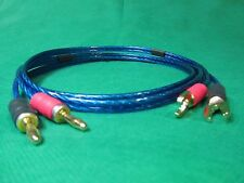 Samurai  TRUE 12 Gauge Wire Speaker Cable 2 Banana to 2 Spades , 5 Ft.