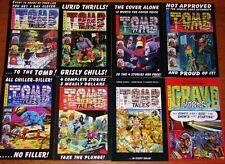 EC Artists (1950's) Front Covers!  ToMB Tales - GRAVE Yarns - All 8 MINT comics!