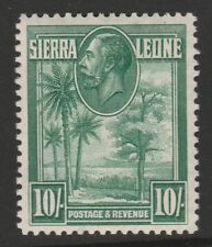 Sierra Leone 1932 George V 10/- Green SG 166 Mint.