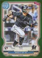 2020 Topps Gypsy Queen Green #293 Isan Diaz RC Rookie Miami Marlins