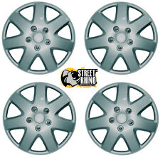 """Silver Tempest 15"""" Wheel Cover Hub Caps Set Ideal For Nissan Tiida"""