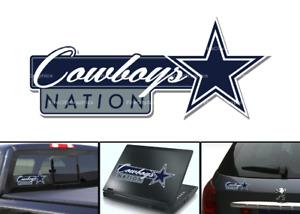Dallas Cowboys Nation Vehicle window bumper decal 7x3