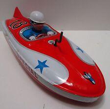 Vintage Asc Japan Tin Friction Special Speedboat *Excellent & Works Great*