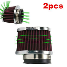 2x 60mm Red Performance High Flow Cold Air Intake Replacement Dry Filter Pods