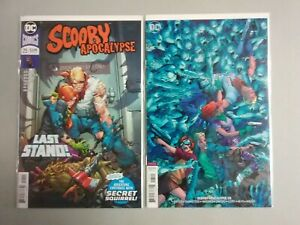 SCOOBY APOCALYPSE #25 MAIN + VARIANT COVER SET DEATH OF FRED JONES