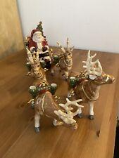 Slitta di Babbo Natale con renne, Porcellana