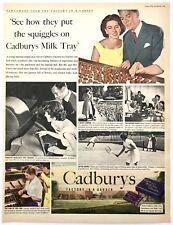 CADBURY'S MILK TRAY - Vintage Magazine Advert (20 March 1954) Chocolate, Food *