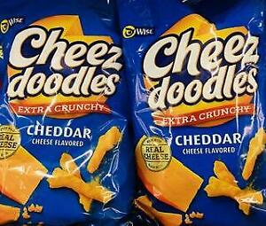 2 Bags Wise Cheez doodles Extra Crunchy Cheddar Cheese 5.5oz. ~FAST FREE SHIP! ~