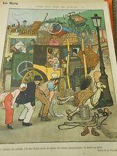 Soyez bons pour les animaux le cheval fatigué ma cocotte Humour Print 1913