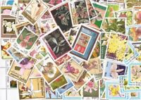 Orchids - Collection of 100 Different Stamps