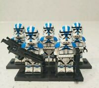Star Wars 501st Clone Troopers 5 Custom Minifigures Lot - USA SELLER