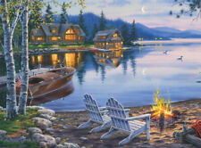 Buffalo Games Darrell Bush Lake Reflection 1000 PC Puzzle, Poster included