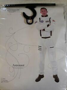 ASTRONAUT COSTUME Jumpsuit NASA WHITE SPACE SUIT ADULT Underwraps brand one size
