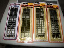 "3 Vintage 1970's Tyco #417 HO Scale 9"" Straight Track & 1 Life Like 8600"
