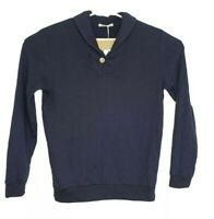 Marine Layer Woodside Shawl Collar Pullover Sweater Mens Size Small Indigo NWT