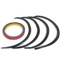 4PCS Carbon Fiber Car Wheel Rubber Eyebrow Protector Lip Trim Flare Fender Strip