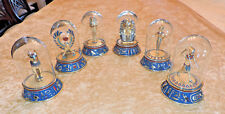 Franklin Mint~Egyptian Glass Dome Figurines~Set of 6~Hand Painted