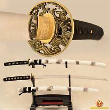Samurai Katana Sword Handmade Japanese 9260 Spring Steel No-Hi Blade Very Sharp