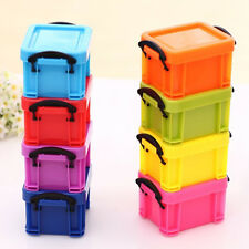 Practical Plastic Mini Storage Box Case Container Organizer Desk Jewellery Box