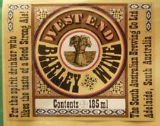 OLD AUSTRALIAN BEER LABEL, SA BREWING Co WEST END BARLEY WINE