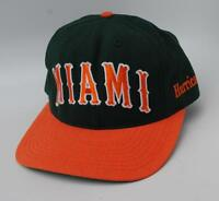 MIAMI Hurricanes University Of Miami Size 7 1/4 Fitted NCAA Baseball Cap Hat