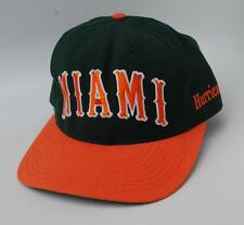 MIAMI HURRICANES NCAA Baseball Cap Hat Size 7 1/4 Fitted Flat Bill