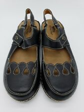 Spring Step Hope Womens Size 6.5-7M Blk Leather Mary Janes Hook Loop Never Worn