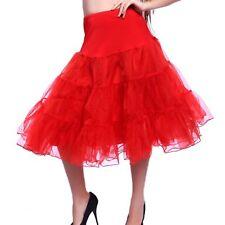 """26 """"50s retro-Vintage-Swing-Unterrock Petticoat Fancy netto Rock Rockabilly Tutu"""