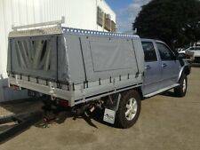 Toyota Hilux Dual Cab Canvas Ute Canopy - Hard Roof Vinyl Sides