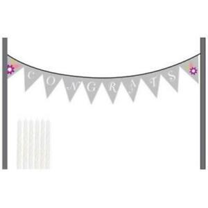 I Do Cake Congrats Cake Banner Kit Bridal Shower Wedding Decoration
