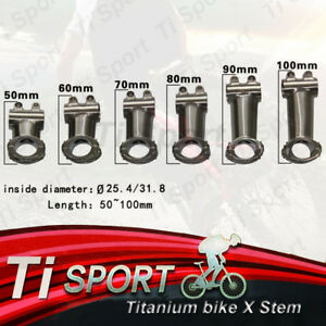 "TiSport Titanium Stem 25.4/31.8mm/1 1/8""-For Road/Mountain Bike/XC/MTB/FR/DH"