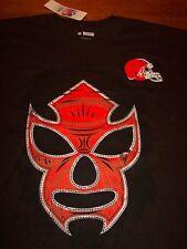 CLEVELAND BROWNS NFL FOOTBALL FANATIC FAN WRESTLER T-Shirt 2XL XXL NEW w/ TAG