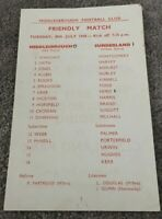 MIDDLESBROUGH V SUNDERLAND FRIENDLY 30th JULY 1968