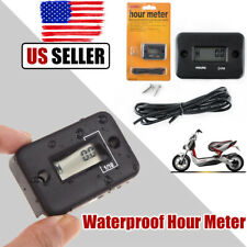 Inductive Waterproof Hour Meter Timer for Marine Motor Boat ATV Any Gas engine