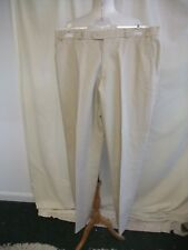 """Mens Trousers Angelo Litrico at C&A, 37""""W, 33.5""""L, beige linen blend casual 1813"""