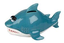 Ravensden Shark Novelty Ceramic Money Savings Bank FREE UK POSTAGE