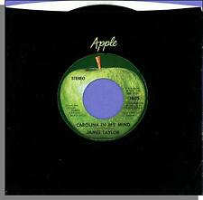 "James Taylor - Carolina in My Mind + Something's Wrong - 7"" Apple Single!"