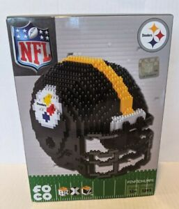 NIB FOCO Forever Collectibles NFL Steelers 1293 3-D Pieces BRXLZ Team Helmet