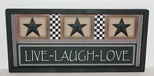 Live Laugh Love Primitive Country Wall Decor 9 inch x 20 inch