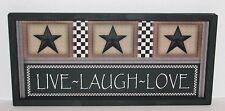 Live Laugh Love Primitive Country Wall Decor 9 inch x 20 inch