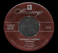 """PATTI PAGE """"CHANGING PARTNERS/Where Did My Snowman Go"""" MERCURY 70260 (1954) 45"""
