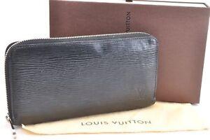 Authentic Louis Vuitton Epi Zippy Organizer Long Wallet Black M63852 LV 64923