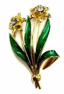 Simply Beautiful Finest Daffodil Gold Plated Brooch