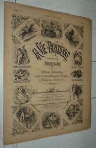 LA VIE PARISIENNE MARCELIN 21-06 1884 GARDEN-PARTY EN HAUT DES MAILS